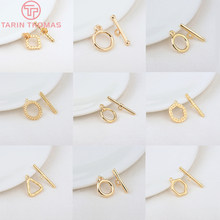 6 conjuntos 24k ouro cor chapeado bronze pulseira o toggle fechos de alta qualidade diy jóias fazendo descobertas acessórios