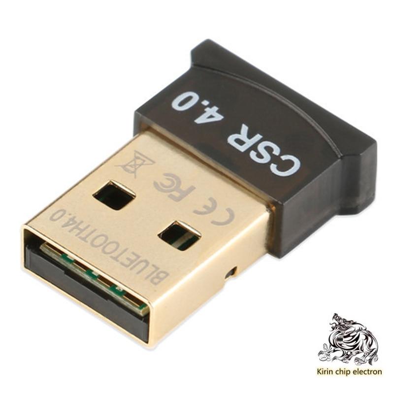 1PCS/LOT Mini USB Bluetooth 4.0 Adapter PC Audio Transmitter/headset Keyboard Mouse Bluetooth Transceiver