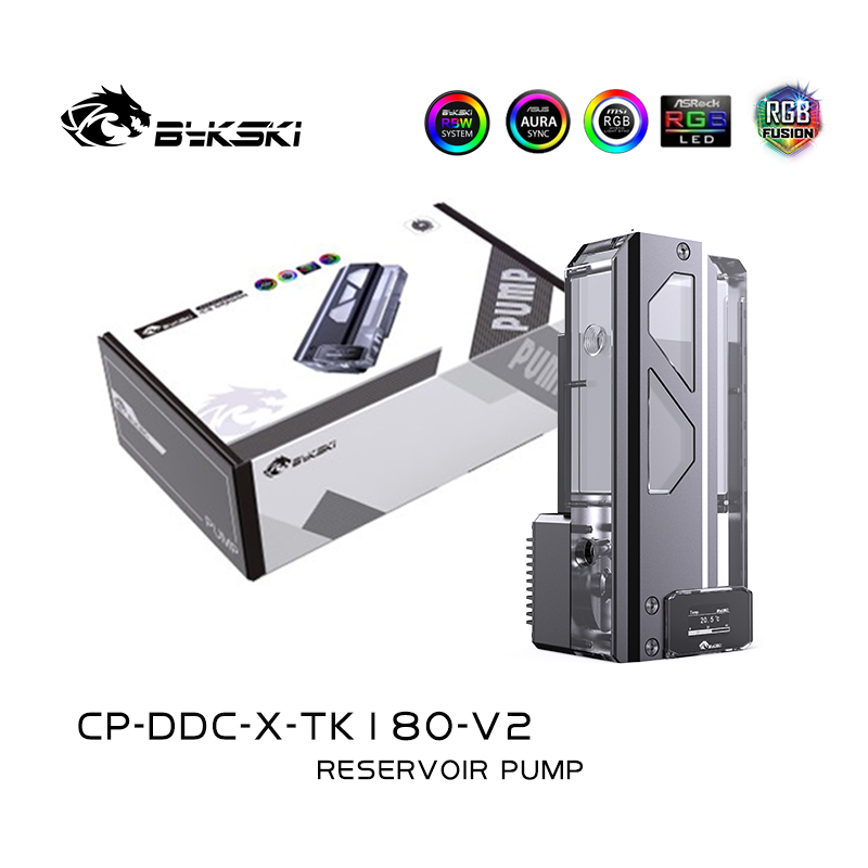 BYKSKI Reservoir Length 180mm/220mm*81mm*73.8mm Acrylic Water-Cooled Tank / Reservoir With OLED Temperature Display /A-RGB Light