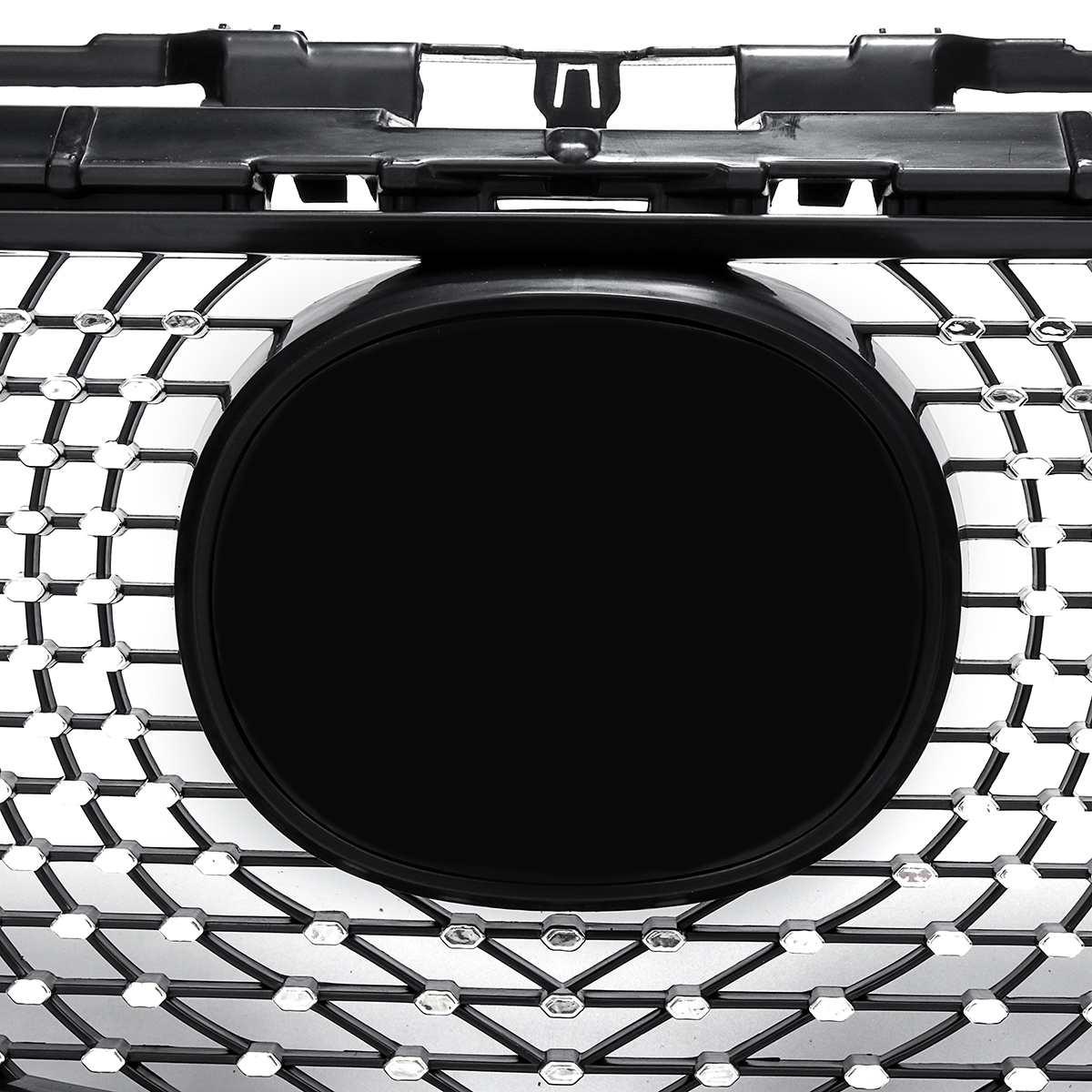 Для Mazda 6 atenza 2013 2014 2015 2016 передний бампер верхние решетки Алмазная решетка ABS сетка планки крышка автомобиля Стайлинг - 5