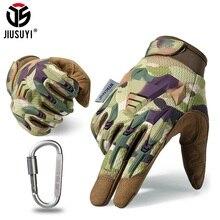 Gants militaires tactiques pour hommes et femmes, mitaines, en caoutchouc, gant de Protection, Paintball, tir Airsoft, pour vélo, complet