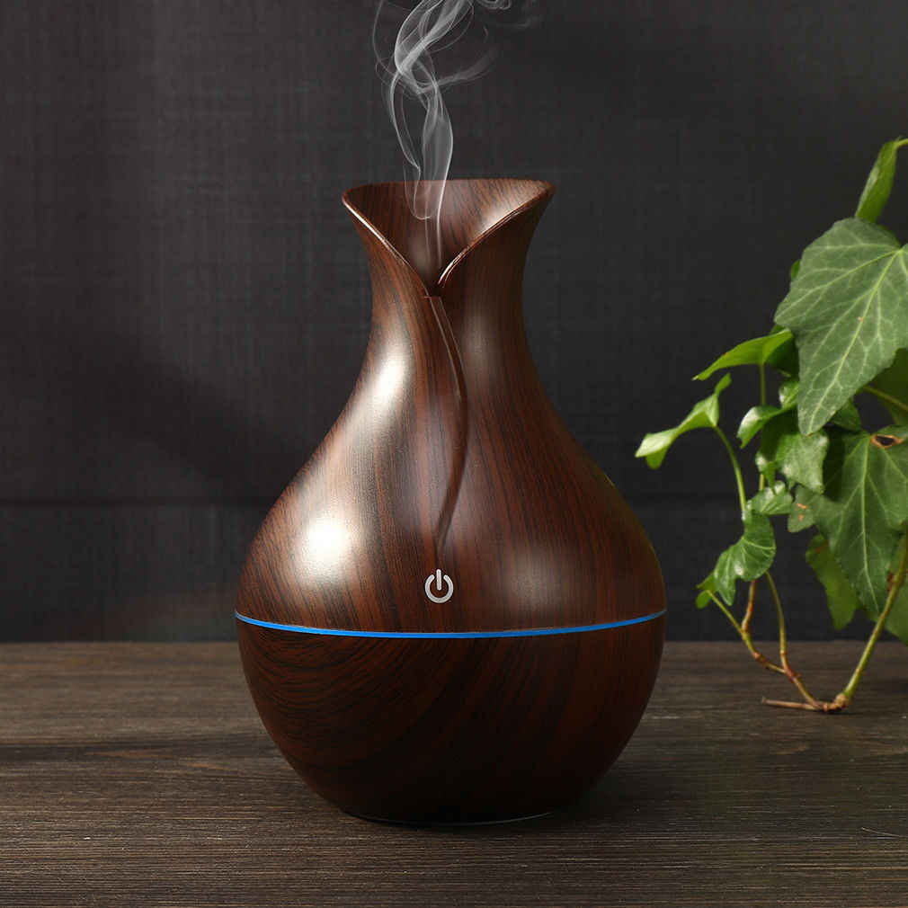 130ml NEW USB Aroma Essential Oil Diffuser Ultrasonic Cool Mist Humidifier Air Purifier LED Night light Office Home