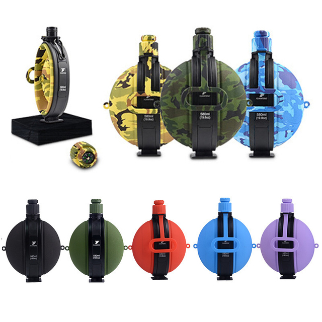 Outdoor Military Water Bottle Silicone Large Capacity Folding Water Kettle Hiking Camping Leak Proof Tour Water Bottle 5
