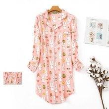 Robe de nuit à carreaux en coton pur pour femmes, vêtements de maison grande taille, Pyjama Long Sexy, à la mode, 2020