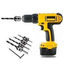 Drill-Bit-Set Chamfer-Tool Woodworking Screw Countersink 3mm-6mm 5-Flute 4pcs HSS High-Quality