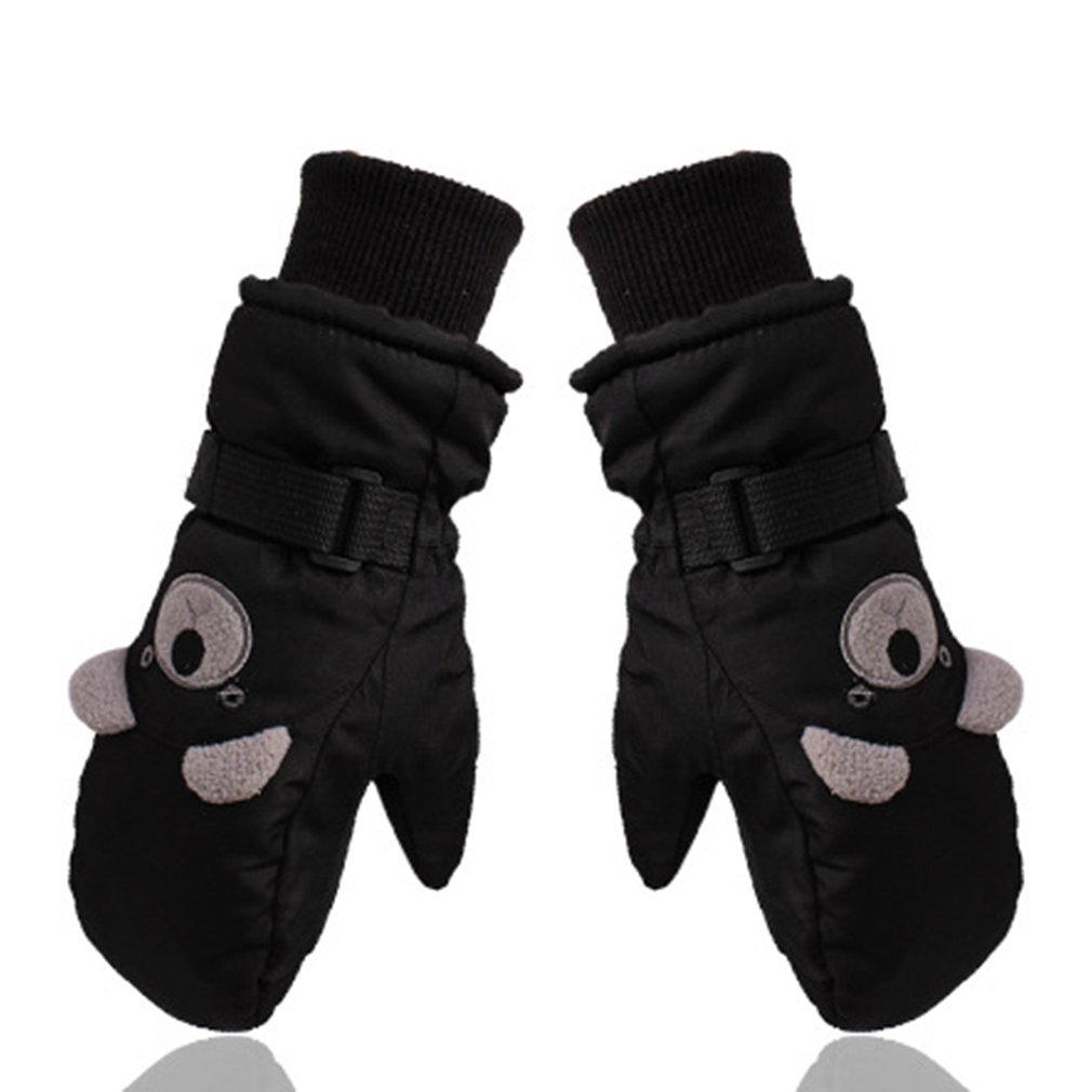 Children Skiing Gloves Waterproof Windproof Non-slip Snow Skating Gloves Thick Warm Gloves Mittens For Winter Sports