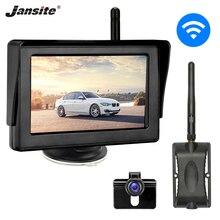 цена на Jansite Monitor Car Rear view camera car monitors for Backup Camera Wireless Parking System Night Vision waterproof Rear Cameras