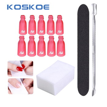 Set de herramientas para removedores de esmalte de uñas sin pelusas, removedor de esmalte de uñas, toallitas suaves para eliminar Gel UV