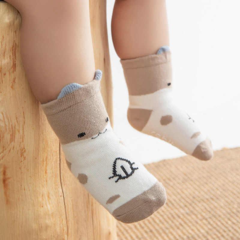 Nuevos calcetines para bebé y niñas niños bonitos dibujos animados de pato Animal calcetines gruesos calientes NIÑOS Calcetines antideslizantes 0-3Y
