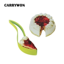 CARRYWON 1pc Cake Knife Plastic Cake Cutting Tool Bread Pie Slicer Sheet Guide Cutter Bread Slicer Bake Food Cutter creative plastic bananas slicer cutter yellow