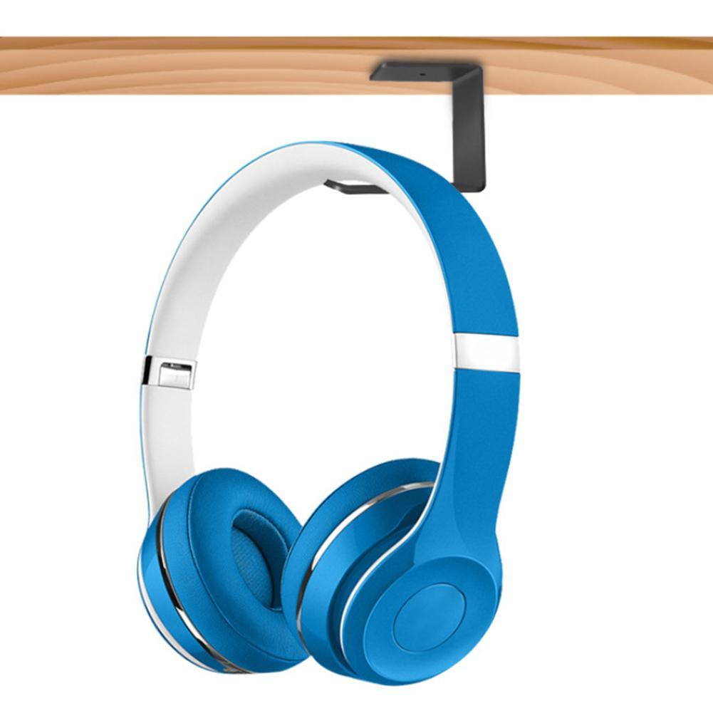 Universal Headphone Stand Hanger Hook Tape Under Desk Dual Headset Mount Holder