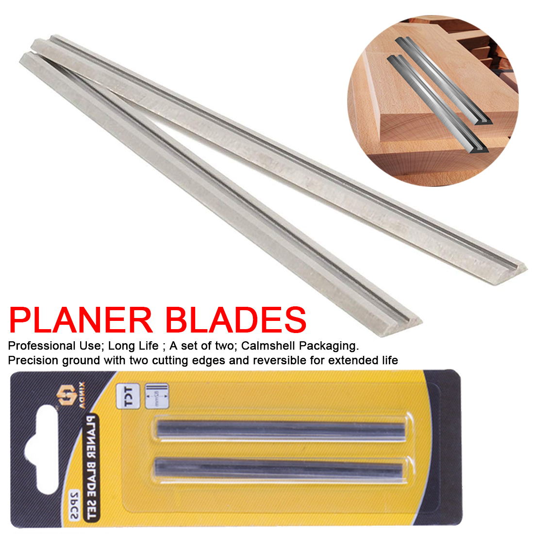 Carbide Planer Blade 82x5.5x1.2mm Reversible Wood Planer Knife For Woodworking Machinery Parts