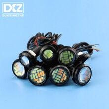 DXZ 1 x стробоскоп противотуманный светильник s дневной ходовой светильник Eagle Eye светодиодный 18 23 мм 12 в желтый синий белый красный DRL Реверсивный парковочный сигнальный фонарь