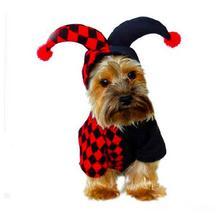 Милый питомец Хэллоуин мультфильм клоун джокер костюм для плюшевый медведь для домашних собак кошка Осень Зима Одежда костюмы косплей собачий наряд для Хэллоуина