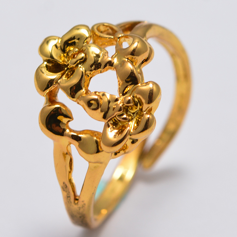Annayoy Variety Dubai Arab African Small  Gold Color Rings for Girls Arabian Middle East Jewellery Little Bangs Woman Mama Gift