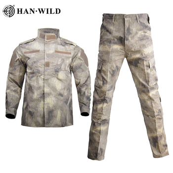 Tactical Camouflage Military Uniform Clothes Suit Men Waterproof  Abrasion Resistant Army Military Combat Jacket + Cargo Pants mens military army combat tactical windbreaker hiking outdoor jacket men water resistant outerwear hoodie coat hunting clothes