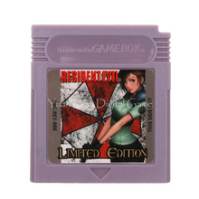 Cartucho de videojuegos para Nintendo GBC, tarjeta de consola Residen Evil Gaiden, versión en inglés