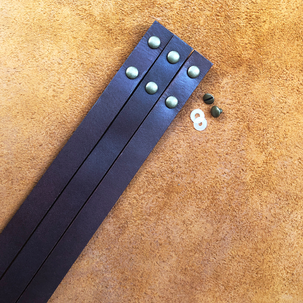 2pcs/lots Retro Oil Wax Leather Handles Durable Shoulder Bag Detachable Belt For Women DIY Handmade Replacement Handbag Strap