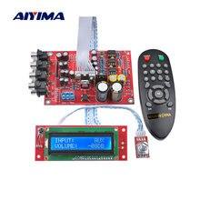 Aiyima m62446 6 canais de controle remoto, amplificador de controle de volume com tela lcd, pré-amplificador de volume de áudio 5.1, ne5532 op para 5.1 amp amp amp