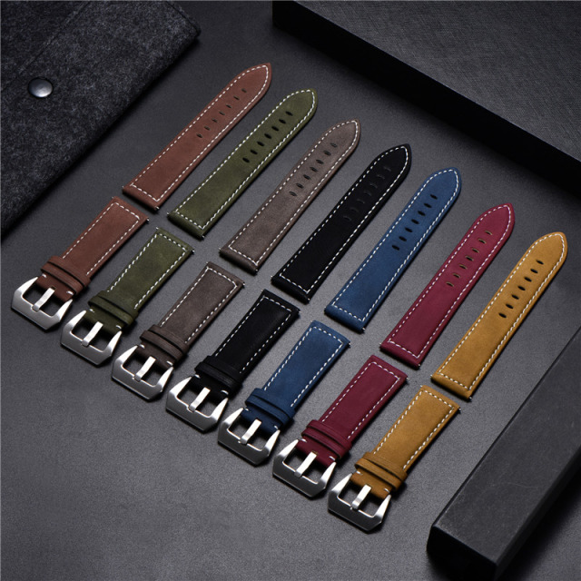 Vintage Matte Leather Watchband 1