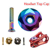 "1-1/8"" MTB Headset Screws Top Cap Cover Aluminum Alloy Mountain Road Bicycles Bowl Bike Stem Cap Bicycle Accessories"