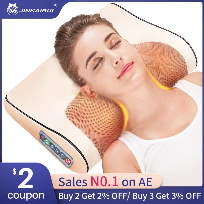 Infrared Heating Neck Shoulder Back Body Electric Massage Pillow Shiatsu Massager Device Cervical Healthy Massageador Relaxation