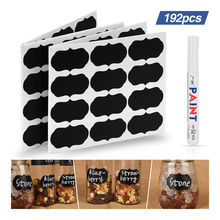 все цены на 192pcs Lables Jar Stickers Kitchen Storage Bottle Jam Organizer Blackboard Stickers Label Tag Home Removable Spice Sticker Decor онлайн