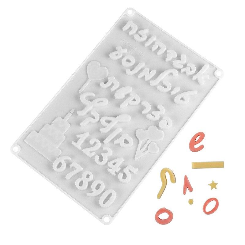 İbranice arapça rakamları İsrail metin şekli çikolata kalıp dijital kalıp bisküvi pişirme eşyaları kek kalıp mutfak aksesuarları