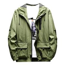 Outdoor Riding Coat Jacket Mens Autumn Spring Casual Fashion Solid Color Hoodies Outwear Tops Male Sport Clothing