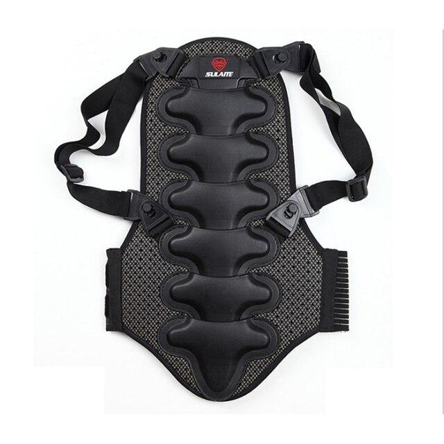 2019 kayak spor geri yelek koruma yeni çıkarılabilir kayak vücut zırhı Backpiece arka koruyucu koruyucu vücut omurga siyah