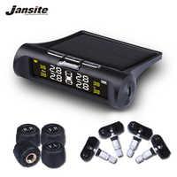 Jansite Smart Car TPMS Monitoraggio Della Pressione Dei Pneumatici Sistema di Energia solare Digitale Display LCD Auto Sistemi di Allarme di Sicurezza Della Pressione dei Pneumatici