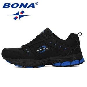 Image 5 - BONA 2019 New Arrival Cow Split Tênis Homem Não Deslizamento Respirável Calçados Esportivos Zapatos Homens Ao Ar Livre Tênis de Corrida calçado
