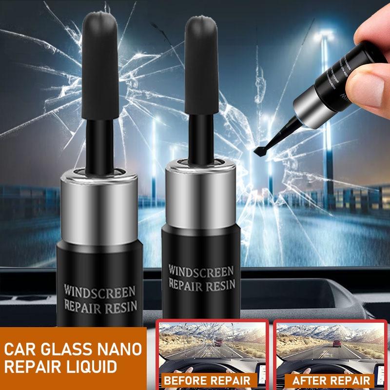 Car Windshield Blade Fluid Glass Repair Auto Glass Nano Repair Liquid DIY Window Repair Tool From Scratch Crack Reduction TSLM1|Window Repair|   - AliExpress