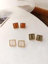 Женские серьги гвоздики из смолы s925 Изящные Ювелирные украшения