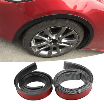 Car Fender Flare Extension Wheel Eyebrow Protector Lip Wheel-Arch Trim Wheel Eyebrow Arch Decorative Strip Automotive image