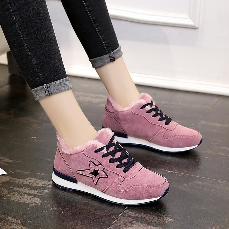 New Velvet White Platform Sneakers Casual Shoes Women 2019 Fashion SpringTenis Feminino Woman Footwear Basket Femme