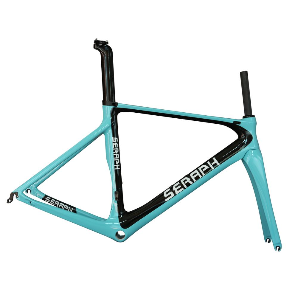 Seraph Brand Aero Road Racing Bike Frame FM268 Carbon Fiber T700 BB86 Costumed Design
