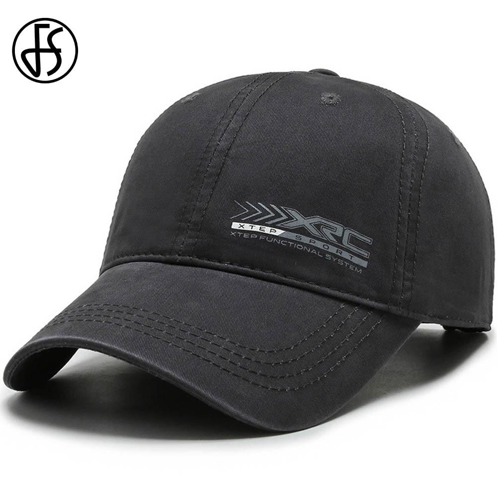 FS 2021 Winter Brand Men Hats Gray Green Trucker Cap Snapback Baseball Caps For Women Letter Print Outdoor Sports Golf Hat