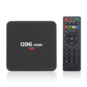 Image 1 - Q96 בית חכם אנדרואיד 8.1 טלוויזיה תיבת RK3229 Quad Core 1 GB/8 GB UHD 4K Media Player 2.4G WiFi H.265 סט למעלה תיבה עם שלט רחוק