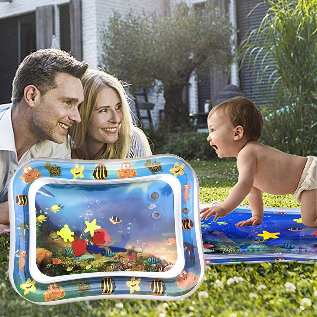 Baby Water Mat Inflatable Tummy Time Playmat Leakproof Pat Perfect Fun Time Play Activity Center For Babies Infants