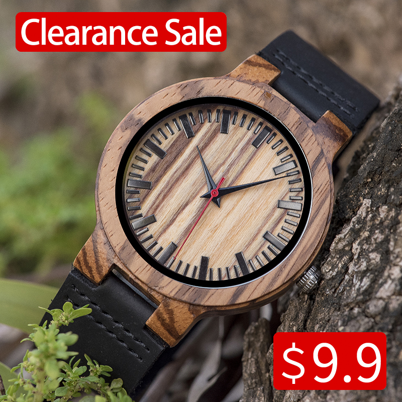 BOBO BIRD Relogio Masculino Promotion Watch Wood Craft Birthday Present To Him Custom Christmas Gifts In Box Wristwatch Leather