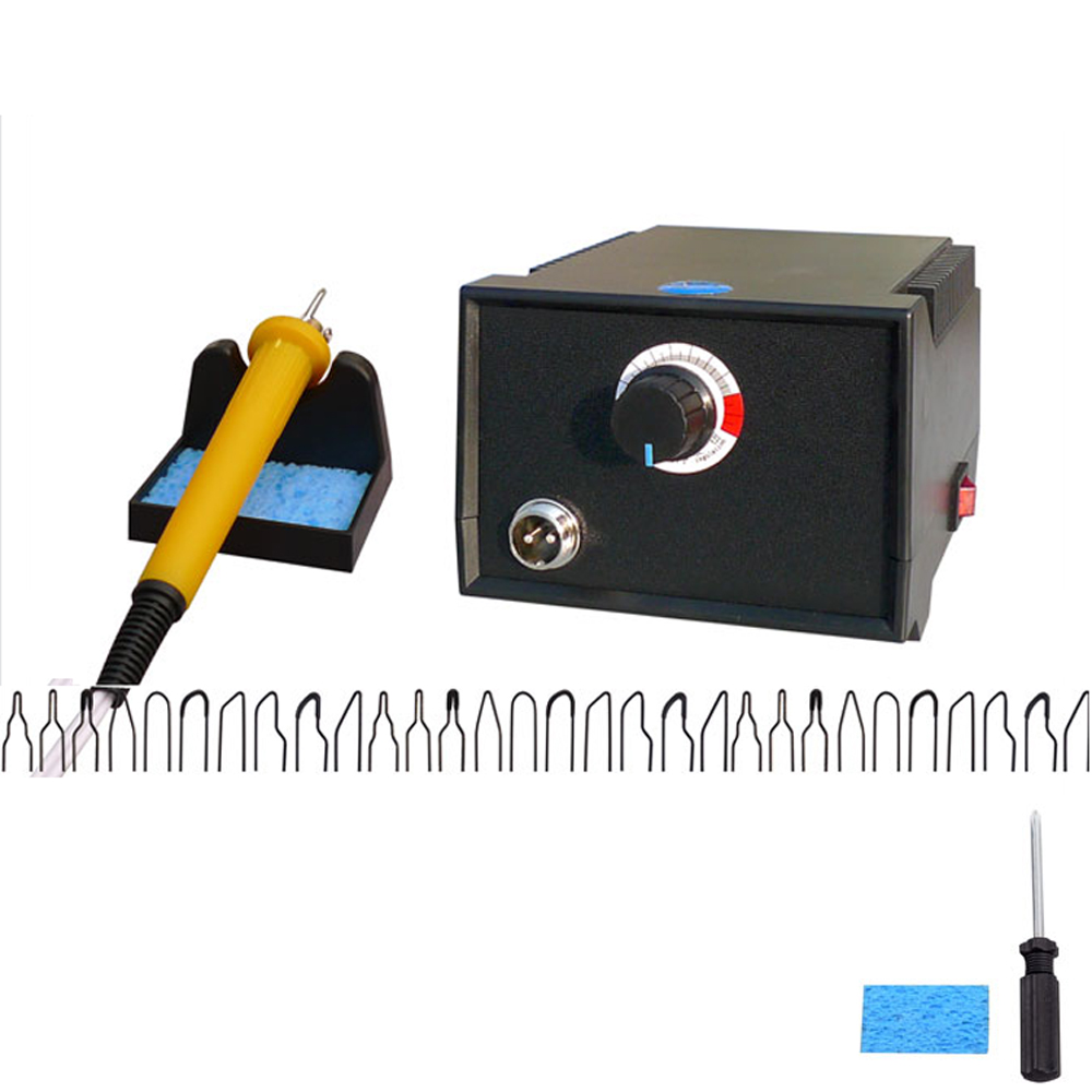 110V/220V Adjustable Temperature Wood Burner Pyrography Pen Burning Machine Gourd Crafts Tool Set With Welding Wire 60W