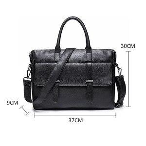 Image 4 - Scione الرجال حقيبة جلدية حقيبة جديدة المحمولة حقيبة أعمال للرجال مكتب محمول حقيبة ساعي حقيبة الجراب الجلدية حقيبة