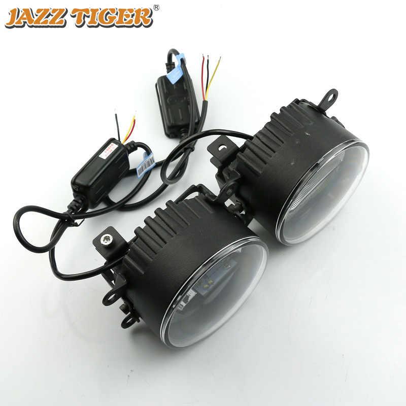 ג 'אז נמר 2-in-1 פונקציות LED בשעות היום ריצת אור רכב LED ערפל מנורת מקרן אור עבור סיטרואן c1 C3 C4 Aircross DS3 DS4 DS5