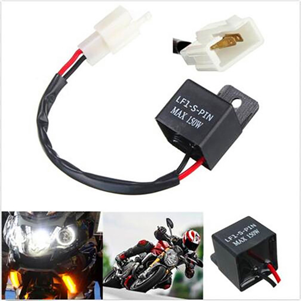 Car motorcycle switch Adjustable LED Turn Signal Indicator Blinker Light  Flasher Relay for most 40V For Yamaha Honda KTM Aug40