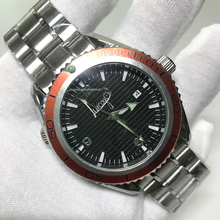 hot sell watches Automatic Mechanical self-winding glide smooth second hand sea watch master movement stainless steel A quality