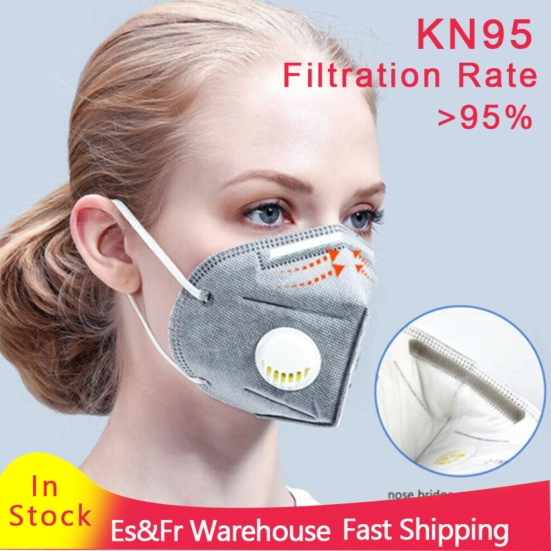 DS2 KN95 Mask FFP3 FFP2 Mask PM2.5 Face Mask Anti-pollution Anti-dust Ffp3 2 Respirator Mask N95 Mask Unisex N95  KF95 Dropship