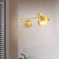 Lámpara de mesita de noche con rotación de 360 °, luz de pared con espejo decorativo moderno de brazo largo, accesorios de luces de Interior para dormitorio, Luminária Led, novedad