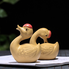 PINNY Purple Clay Swan Handmade Sculpture Animal Tea Pet Decoration Home Accessories Ceramic Crafts Decorative
