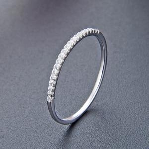 Image 4 - JRSIAL 925 เงินสเตอร์ลิงเครื่องประดับ Zircon แหวนแฟชั่นแหวนแคบบางแหวน
